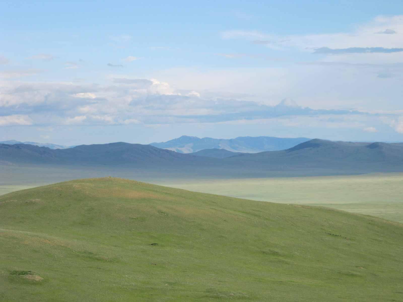 Die Mongolei liegt im Durchschnitt knapp eintausend Meter über dem Meeresspiegel