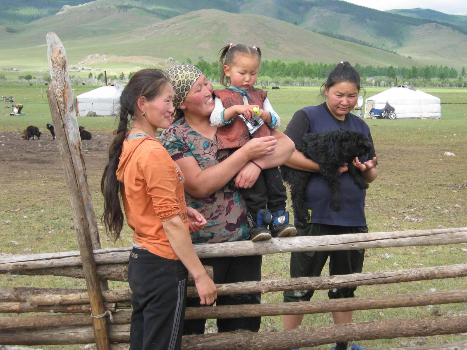 Nomaden in ihrem Sommerlager