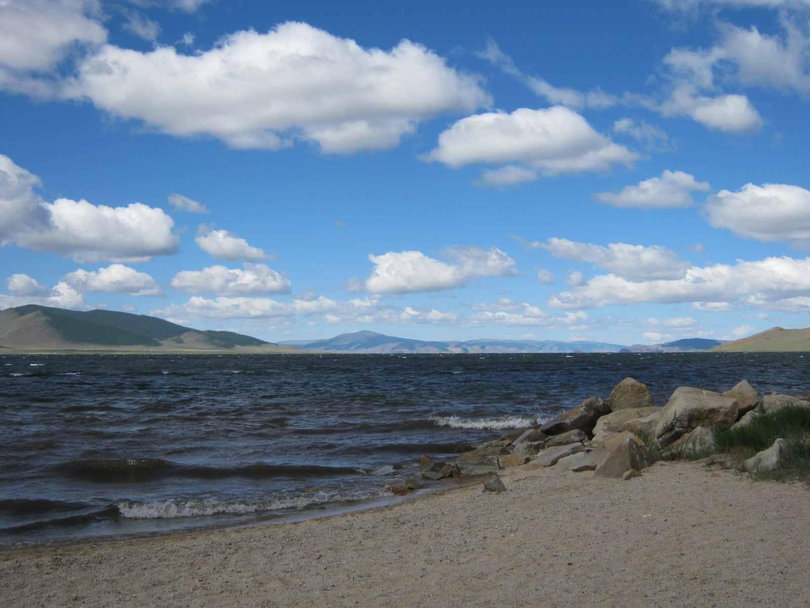 Der Terkhiin Tsagaan Nuur-See liegt heute in einem Nationalpark
